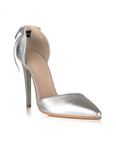 Pantofi Stiletto Revolution argintii C3 AF