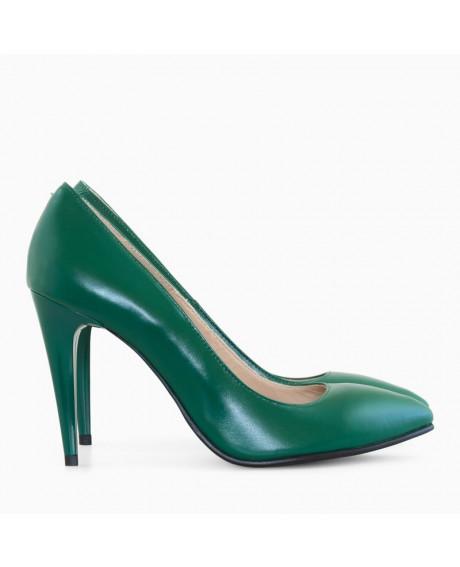 Pantofi dama Stiletto verde Lady D55 - sau Orice Culoare
