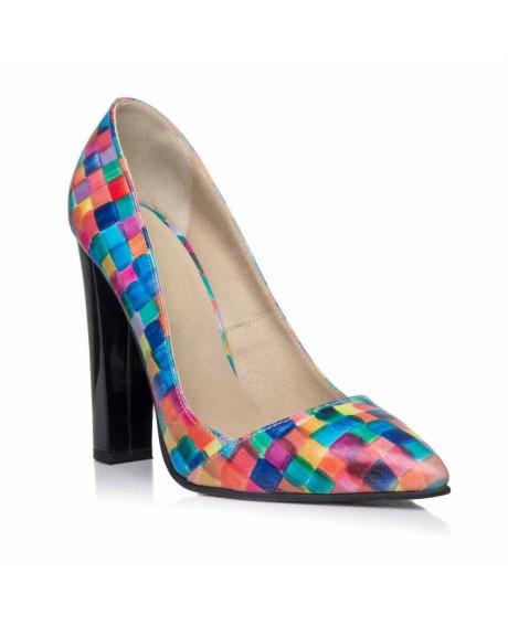 Pantofi Stiletto toc gros Mozaic I 10 -sau Orice Culoare
