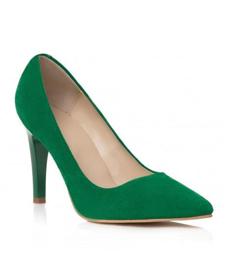 Pantofi verzi din piele Viviane L102 - sau Orice Culoare