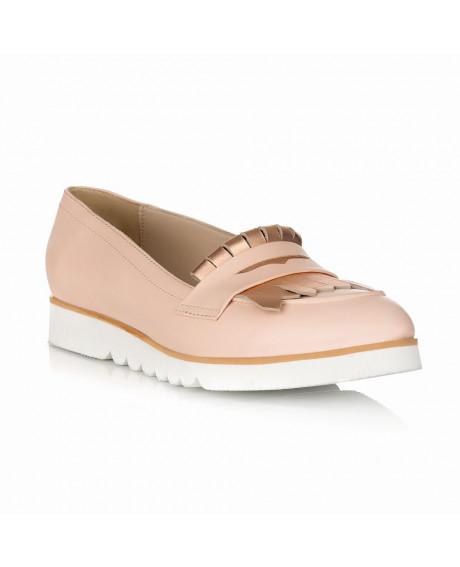 Pantofi cu talpa joasa Martin nude/auriu S15 - sau Orice Culoare