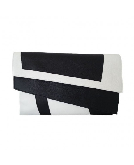Plic piele naturala Black & White-sau Orice Culoare