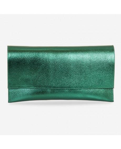 Plic din piele naturala verde sidefat D103 - sau Orice Culoare