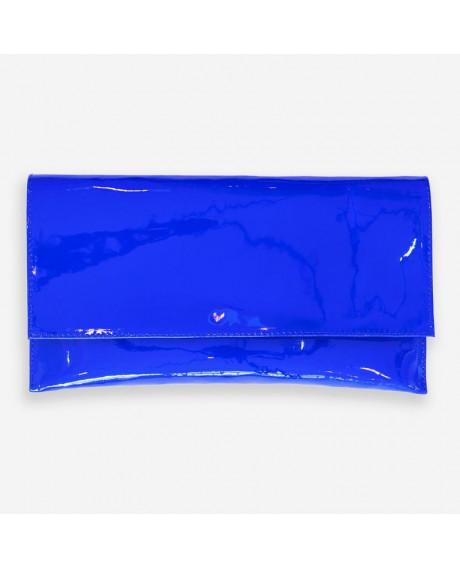 Plic din piele lacuita albastru D10 - sau Orice Culoare
