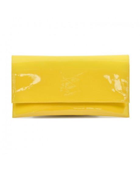 Plic din piele lacuita galben D9 - sau Orice Culoare