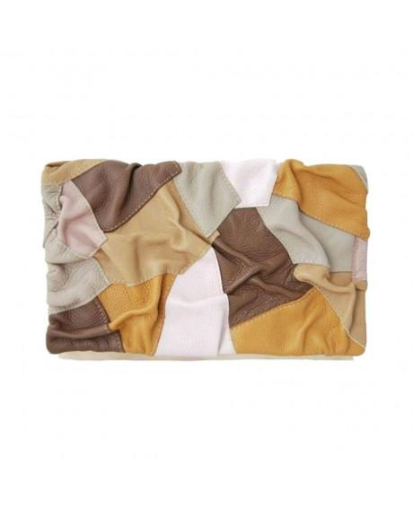 Plic piele Ruffle A2, maron-sau Orice Culoare