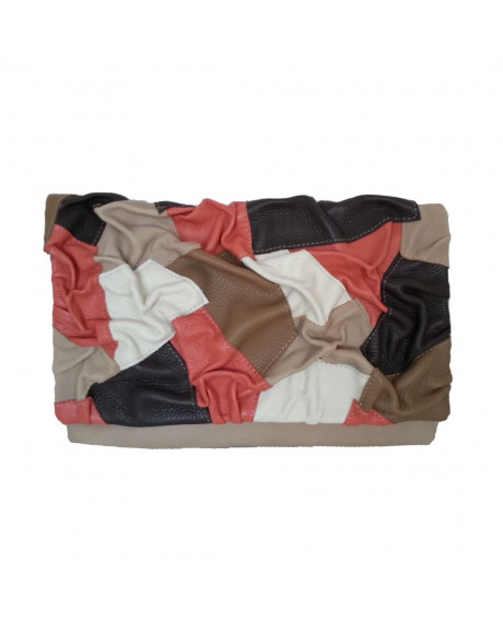 Plic piele Ruffle D, negru/maron-sau Orice Culoare