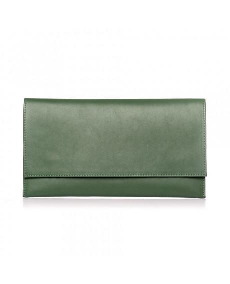 Plic din piele naturala verde D1 - sau Orice Culoare