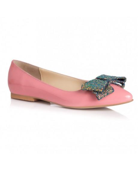 Balerini roz piele lacuita Mony L15 - sau Orice Culoare