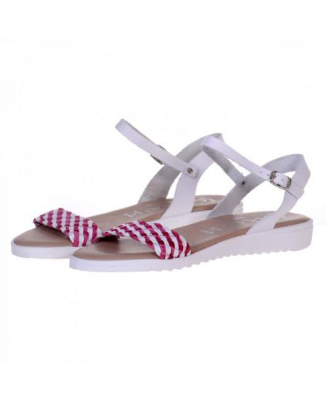 Sandale dama din piele Bertie, rosii