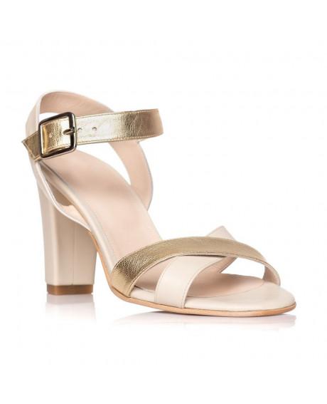 Sandale piele naturala Marina nude/auriu S1 - sau orice culoare