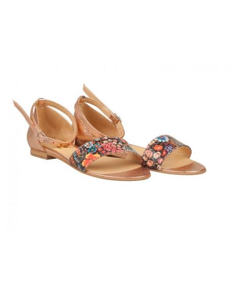 Sandale aurii din piele naturala Oriana N17 - sau orice culoare