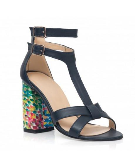 Sandale bleumarin din piele naturala Lora C35 - sau orice culoare