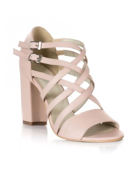 Sandale nude piele Caroline V10 - sau Orice Culoare