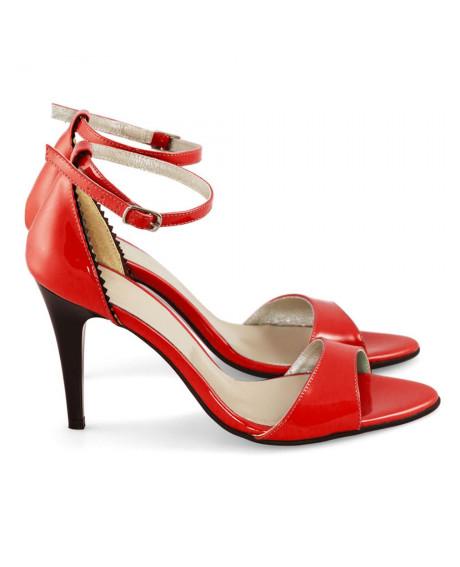 Sandale Cecile rosii D09 - sau Orice Culoare