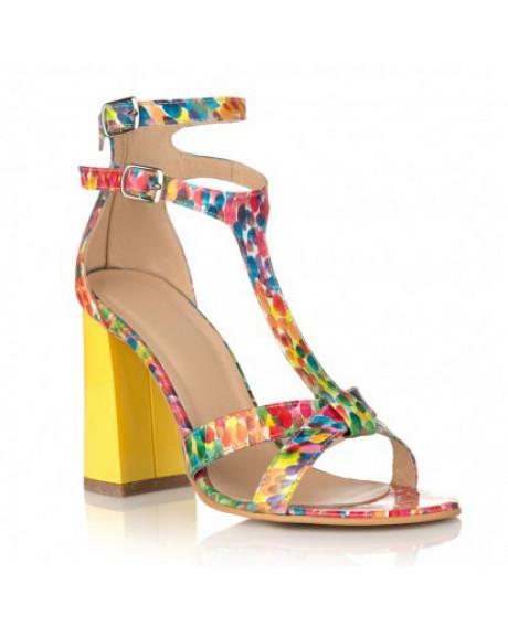 Sandale colorate din piele naturala Lora C15 - sau orice culoare