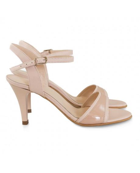 Sandale piele naturala Beauty nude lac D57 - sau orice culoare