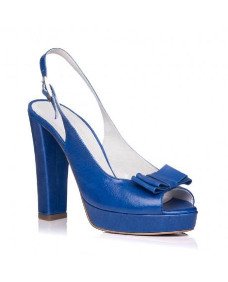 Sandale Celia din piele naturala albastre L1 - sau orice culoare