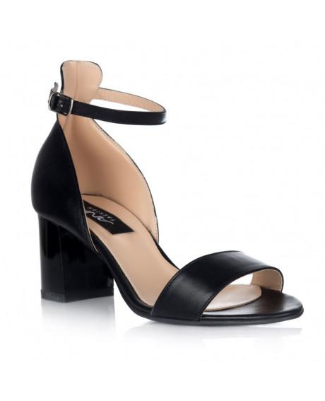Sandale negre din piele naturala Dora C40 - sau orice culoare