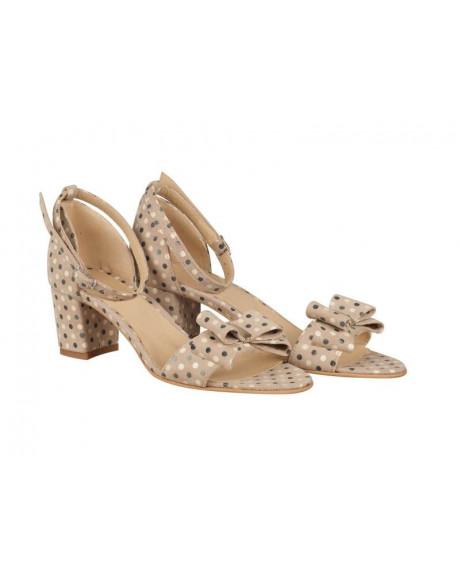 Sandale piele cu buline N201 - sau Orice Culoare