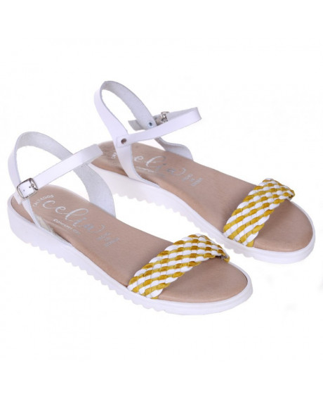 Sandale dama din piele Bertie, galbene