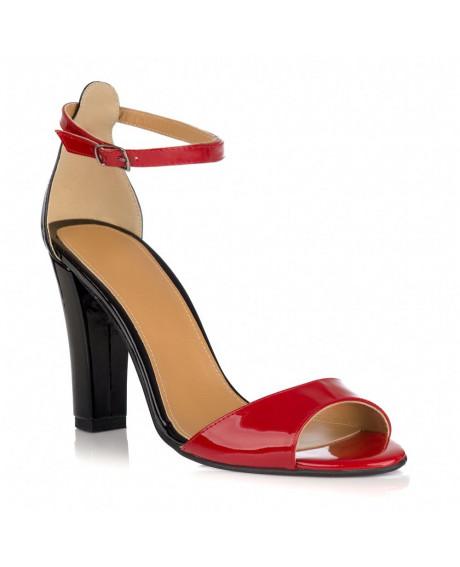 Sandale dama Eliza negru/rosu L10 - sau orice culoare