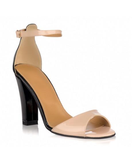 Sandale dama Eliza nude/negru L12 - sau orice culoare