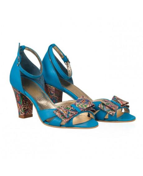 Sandale piele Prince multicolor N11 - sau Orice Culoare