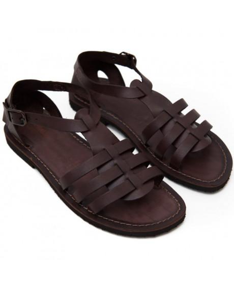 Sandale Romane de dama Mia, maro