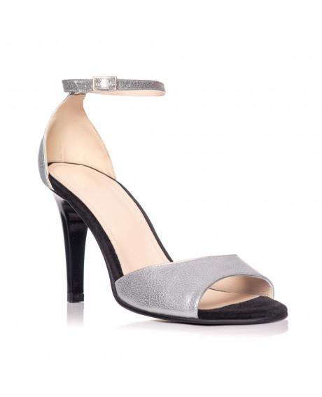Sandale piele naturala Olivia argintii S6 - sau orice culoare