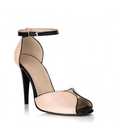 Sandale Emily din piele naturala nude S70 - sau orice culoare