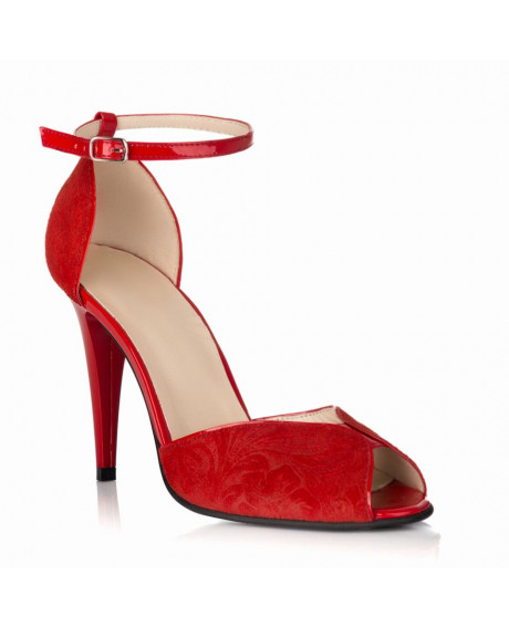Sandale Emily din piele naturala rosii S50 - sau orice culoare