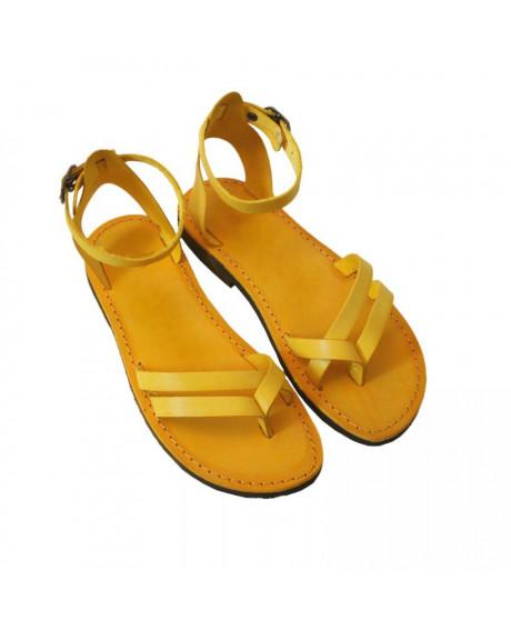 Sandale galbene piele naturala Arya