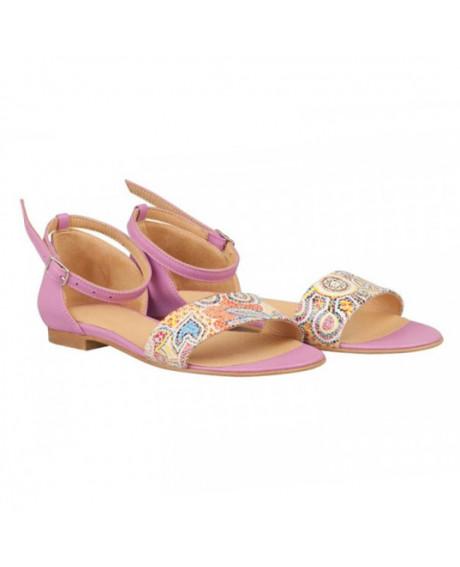 Sandale lila din piele naturala Oriana N31 - sau orice culoare