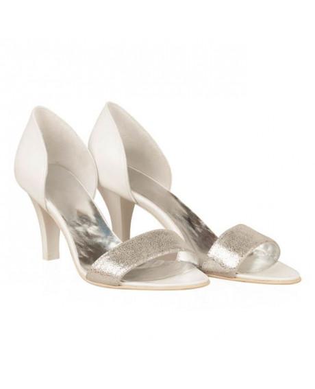 Sandale mireasa piele Dona N10 - sau Orice Culoare