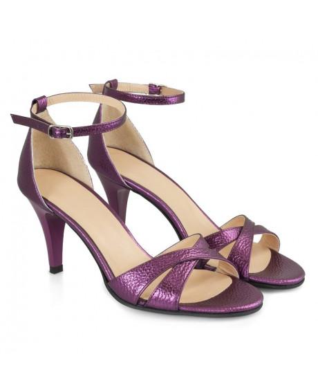 Sandale mov piele naturala Adele D9 - sau Orice Culoare