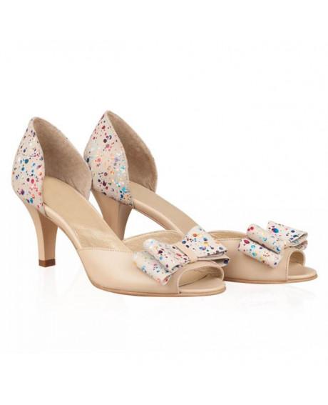 Sandale multicolor din piele naturala Fiona N22 - sau orice culoare