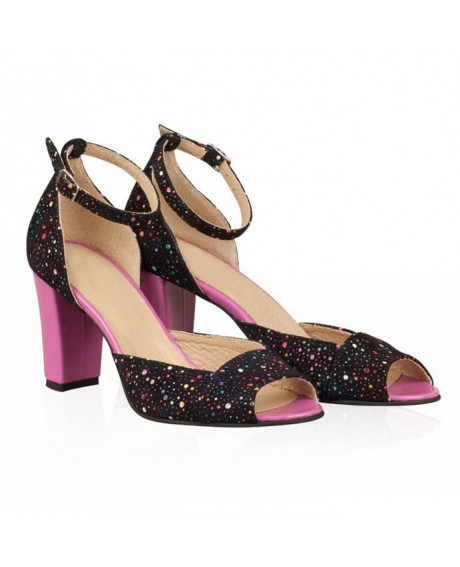 Sandale multicolor negru din piele naturala Sole N42 - sau orice culoare