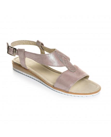 Sandale nude din piele naturala Heidi V10