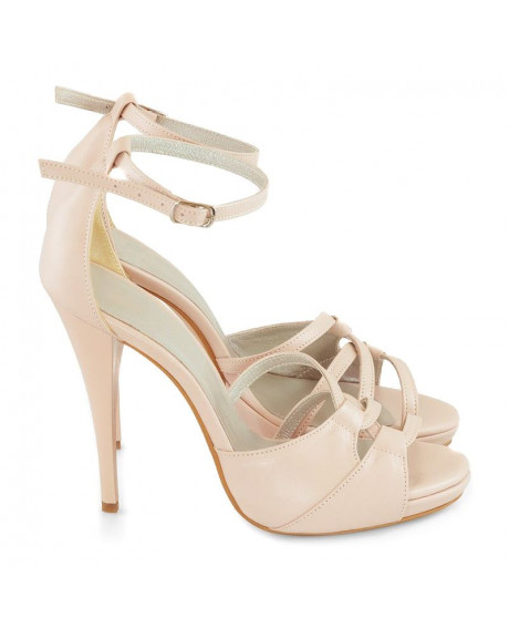 Sandale nude piele naturala Ozana D10 - sau Orice Culoare