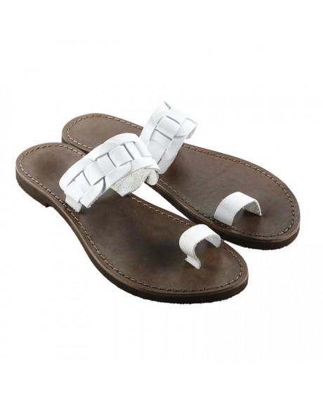 Sandale piele alba Elisa