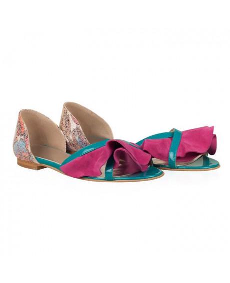 Sandale piele Alondra ciclam N56 - sau orice culoare