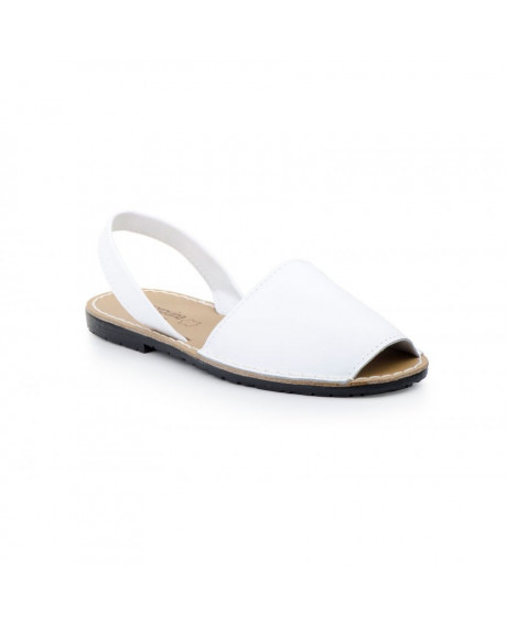 Sandale piele Avarca albe