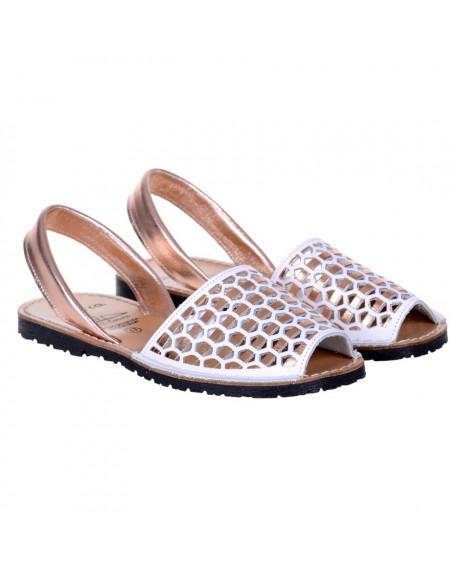 Sandale piele Avarca auriu rose