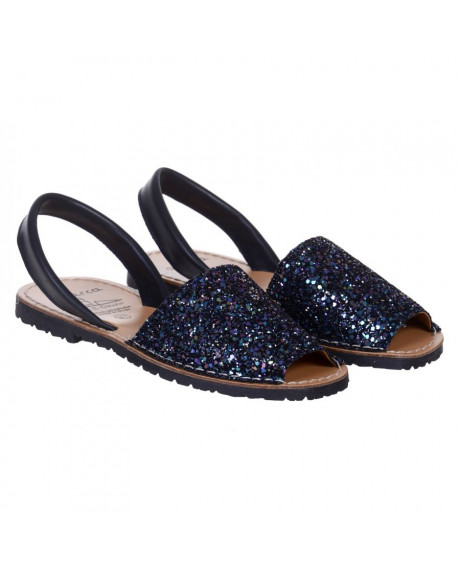 Sandale piele Avarca glitter multicolor