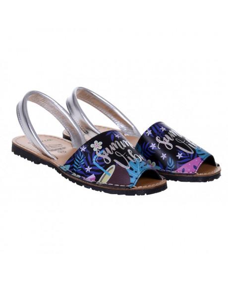 Sandale piele Avarca Summer Negre