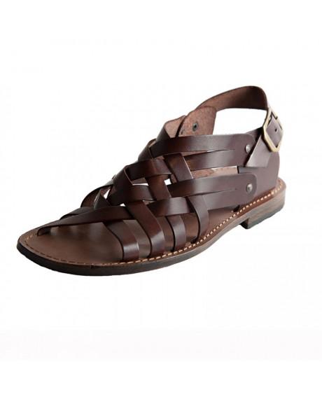 Sandale piele barbatesti Voda, maro