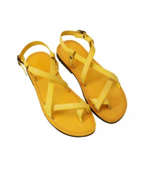 Sandale piele Betina galbene