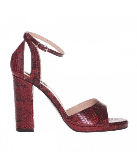 Sandale piele bordo Beth S55 - sau Orice Culoare