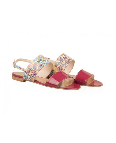 Sandale piele Classy bordo N57 - sau Orice Culoare